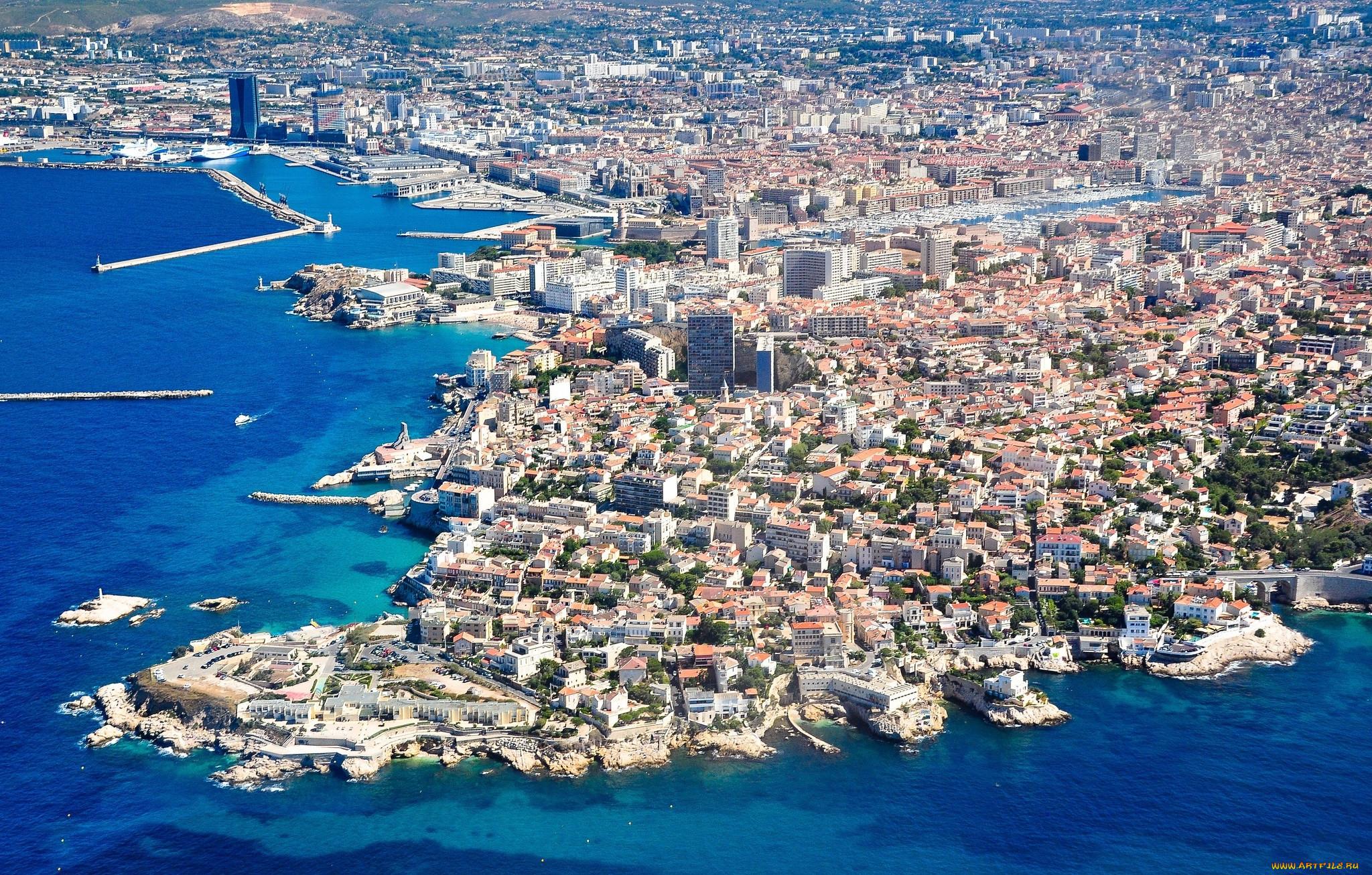 марсель фото города и пляжа белом фоне отлично
